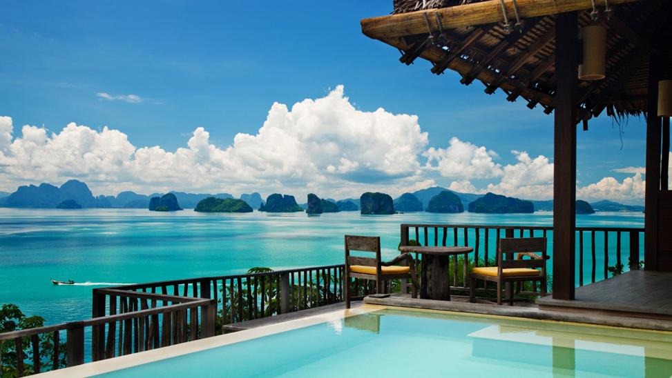 Vista a la Bahía de Phang Nga desde Six Senses Yao Noi