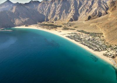 Vista aérea en Six Senses Zighy Bay