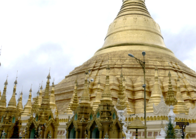 La Gran Pagoda Shwedagon en Yangon