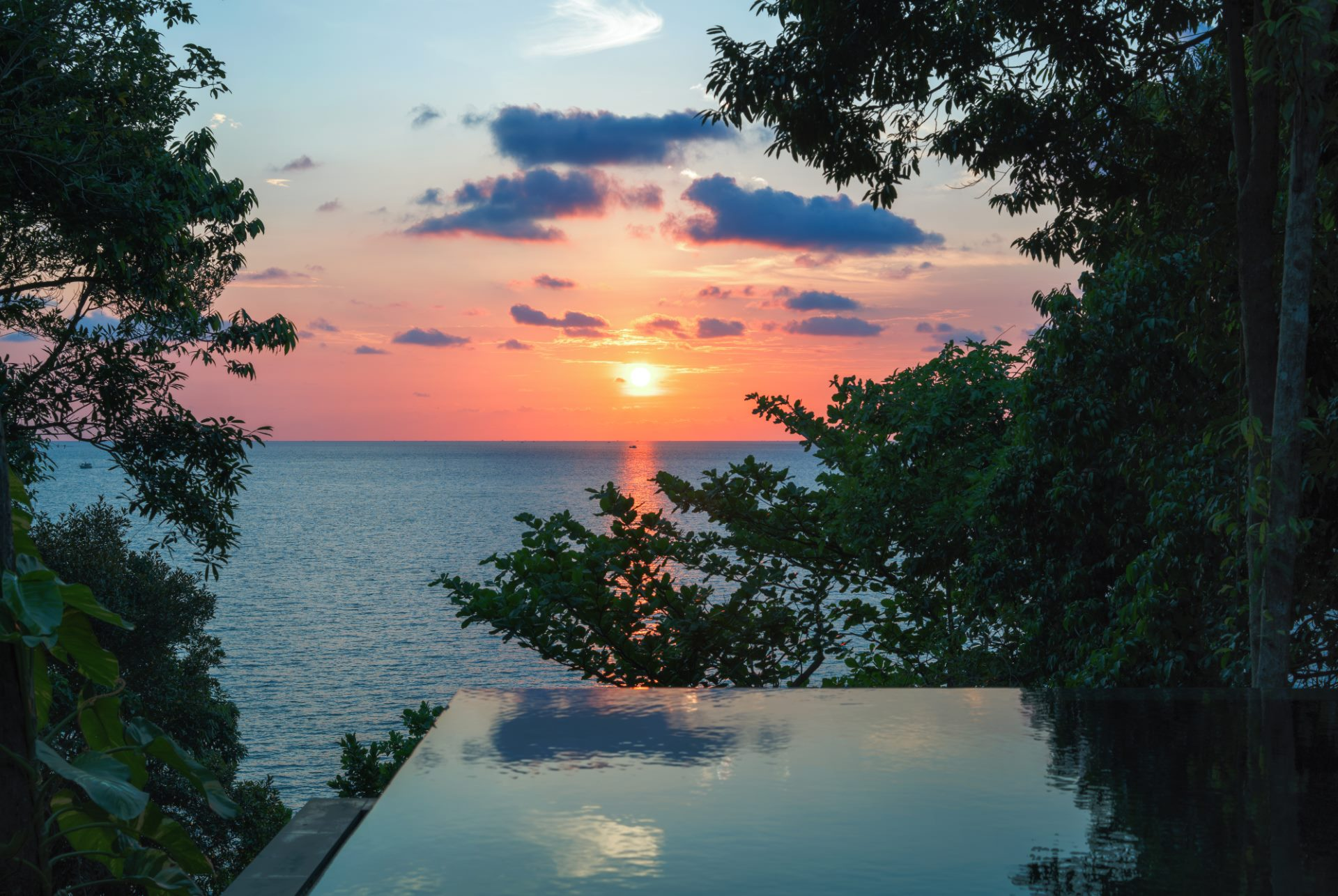 Vista desde Ocean Pool Villa Suite en Six Senses Krabey Island