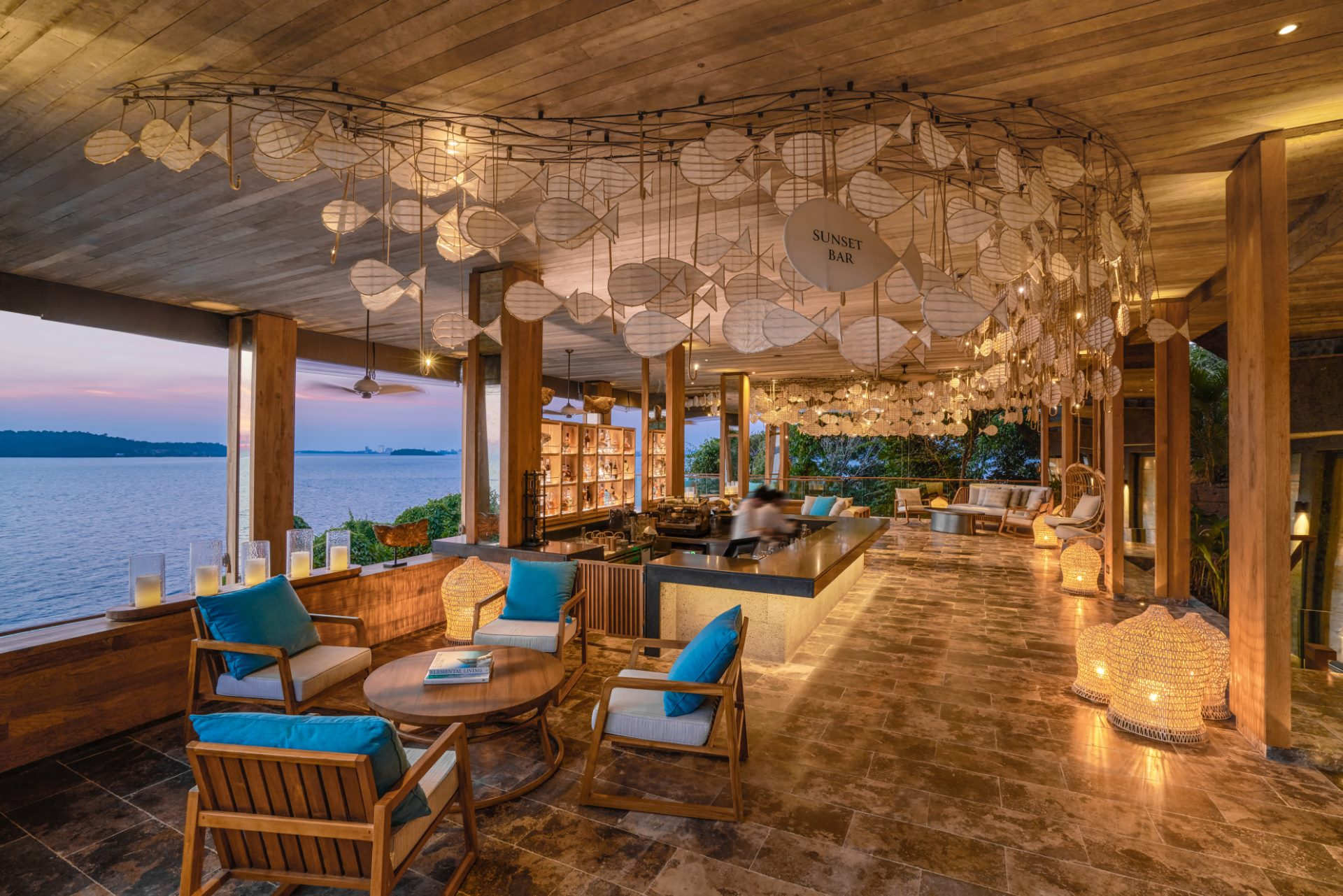 Sunset Bar en Six Senses Krabey Island