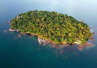 Vista aérea de Six Senses Krabey Island