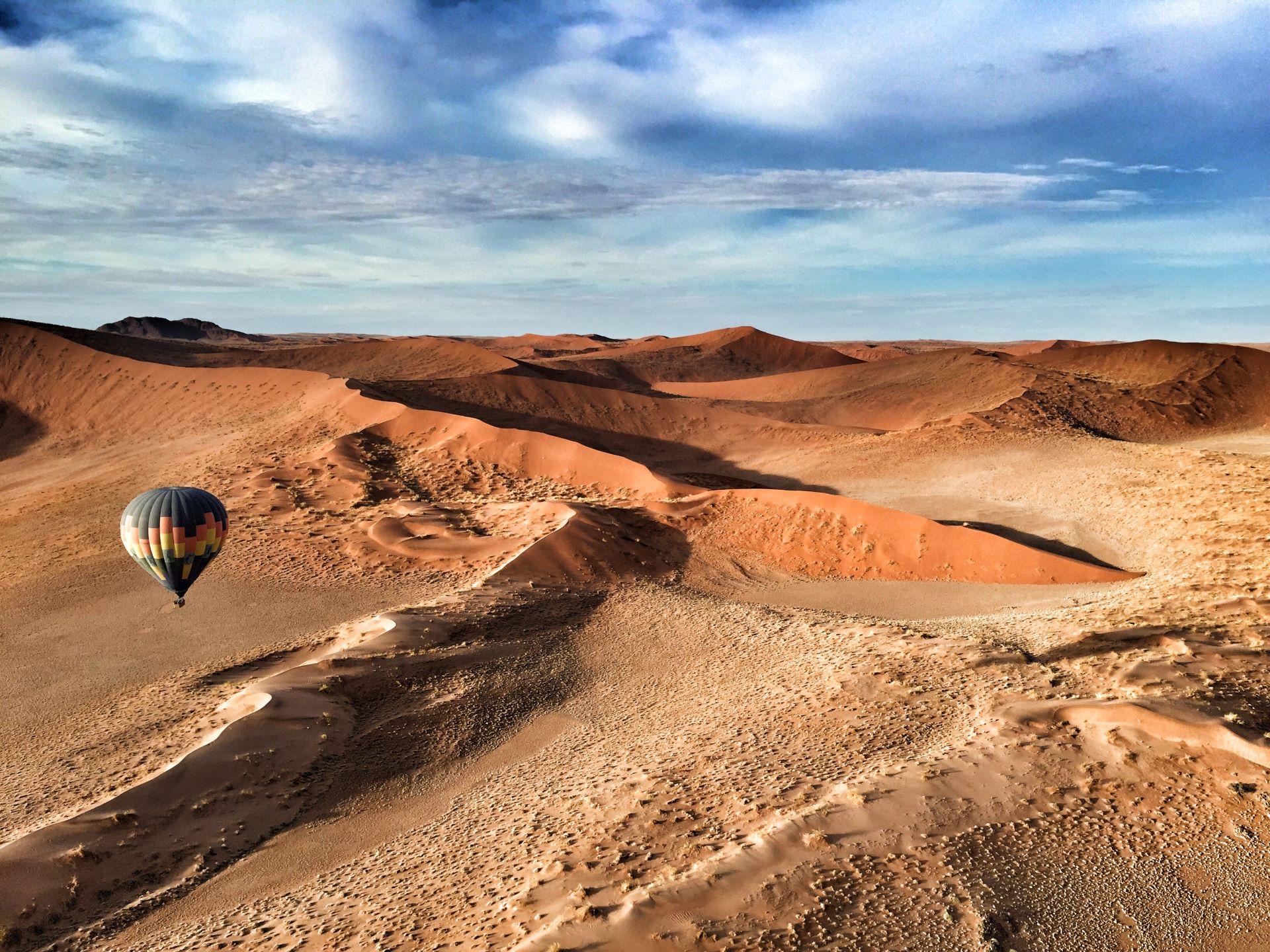 Vuelo en globo sobre las dunas del Namib Naukluft