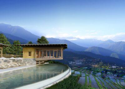 Punakha, instalaciones principales en Six Senses Bhutan