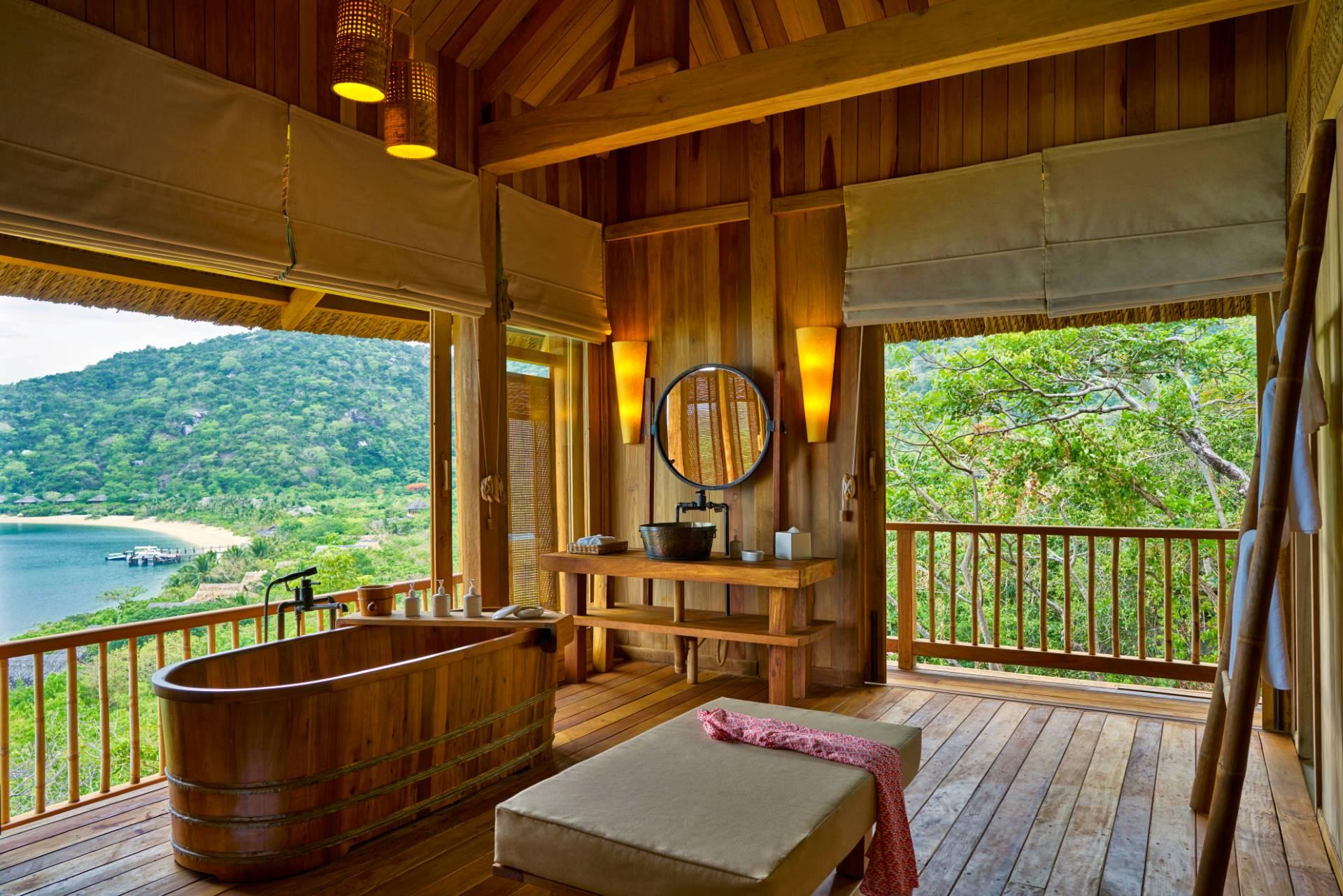Interior Hilltop Reserve en Six Senses Ninh Van Bay